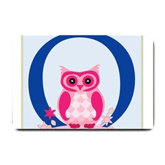 Alphabet Letter O With Owl Illustration Ideal For Teaching Kids Small Doormat