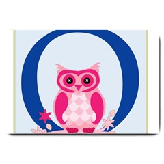 Alphabet Letter O With Owl Illustration Ideal For Teaching Kids Large Doormat
