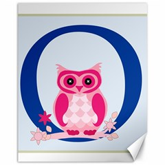 Alphabet Letter O With Owl Illustration Ideal For Teaching Kids Canvas 11  x 14