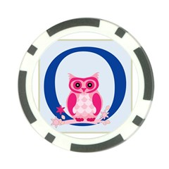 Alphabet Letter O With Owl Illustration Ideal For Teaching Kids Poker Chip Card Guard