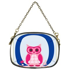 Alphabet Letter O With Owl Illustration Ideal For Teaching Kids Chain Purses (One Side)