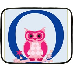 Alphabet Letter O With Owl Illustration Ideal For Teaching Kids Double Sided Fleece Blanket (mini)
