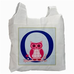 Alphabet Letter O With Owl Illustration Ideal For Teaching Kids Recycle Bag (Two Side)