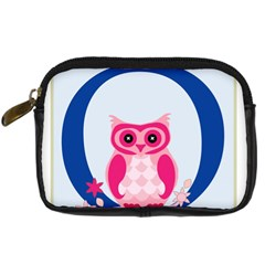 Alphabet Letter O With Owl Illustration Ideal For Teaching Kids Digital Camera Cases