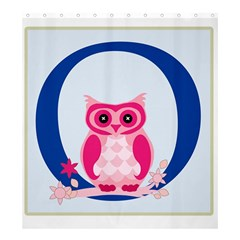 Alphabet Letter O With Owl Illustration Ideal For Teaching Kids Shower Curtain 66  x 72  (Large)