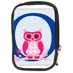 Alphabet Letter O With Owl Illustration Ideal For Teaching Kids Compact Camera Cases