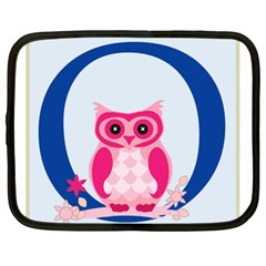Alphabet Letter O With Owl Illustration Ideal For Teaching Kids Netbook Case (XXL)