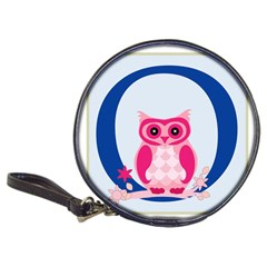 Alphabet Letter O With Owl Illustration Ideal For Teaching Kids Classic 20 Cd Wallets
