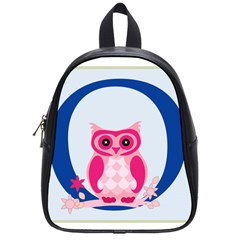 Alphabet Letter O With Owl Illustration Ideal For Teaching Kids School Bags (small)