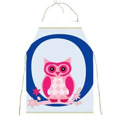 Alphabet Letter O With Owl Illustration Ideal For Teaching Kids Full Print Aprons