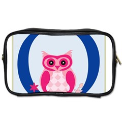 Alphabet Letter O With Owl Illustration Ideal For Teaching Kids Toiletries Bags 2-Side