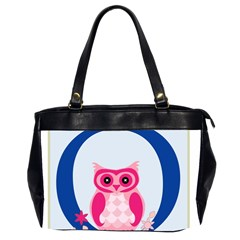 Alphabet Letter O With Owl Illustration Ideal For Teaching Kids Office Handbags (2 Sides)