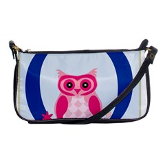 Alphabet Letter O With Owl Illustration Ideal For Teaching Kids Shoulder Clutch Bags