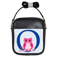 Alphabet Letter O With Owl Illustration Ideal For Teaching Kids Girls Sling Bags