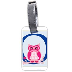 Alphabet Letter O With Owl Illustration Ideal For Teaching Kids Luggage Tags (One Side)