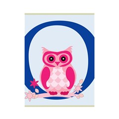 Alphabet Letter O With Owl Illustration Ideal For Teaching Kids Shower Curtain 48  x 72  (Small)