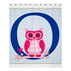 Alphabet Letter O With Owl Illustration Ideal For Teaching Kids Shower Curtain 60  x 72  (Medium)