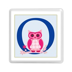Alphabet Letter O With Owl Illustration Ideal For Teaching Kids Memory Card Reader (Square)