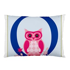Alphabet Letter O With Owl Illustration Ideal For Teaching Kids Pillow Case (Two Sides)