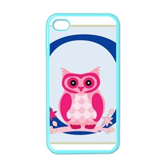 Alphabet Letter O With Owl Illustration Ideal For Teaching Kids Apple iPhone 4 Case (Color)