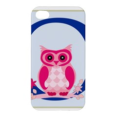 Alphabet Letter O With Owl Illustration Ideal For Teaching Kids Apple Iphone 4/4s Premium Hardshell Case