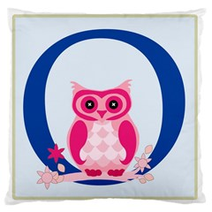 Alphabet Letter O With Owl Illustration Ideal For Teaching Kids Large Cushion Case (One Side)