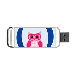 Alphabet Letter O With Owl Illustration Ideal For Teaching Kids Portable Usb Flash (two Sides)