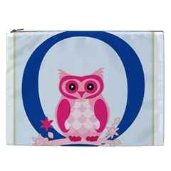 Alphabet Letter O With Owl Illustration Ideal For Teaching Kids Cosmetic Bag (xxl)