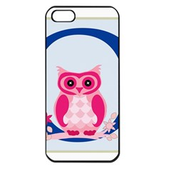 Alphabet Letter O With Owl Illustration Ideal For Teaching Kids Apple iPhone 5 Seamless Case (Black)