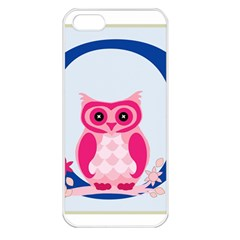 Alphabet Letter O With Owl Illustration Ideal For Teaching Kids Apple Iphone 5 Seamless Case (white)