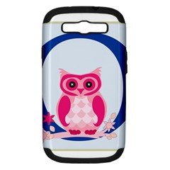 Alphabet Letter O With Owl Illustration Ideal For Teaching Kids Samsung Galaxy S III Hardshell Case (PC+Silicone)