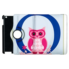 Alphabet Letter O With Owl Illustration Ideal For Teaching Kids Apple iPad 2 Flip 360 Case