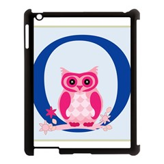 Alphabet Letter O With Owl Illustration Ideal For Teaching Kids Apple iPad 3/4 Case (Black)