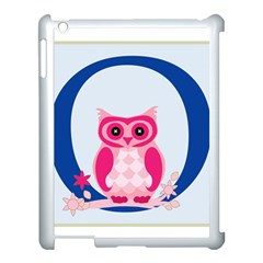 Alphabet Letter O With Owl Illustration Ideal For Teaching Kids Apple Ipad 3/4 Case (white)