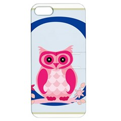 Alphabet Letter O With Owl Illustration Ideal For Teaching Kids Apple Iphone 5 Hardshell Case With Stand