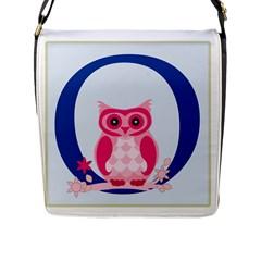 Alphabet Letter O With Owl Illustration Ideal For Teaching Kids Flap Messenger Bag (l)