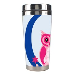 Alphabet Letter O With Owl Illustration Ideal For Teaching Kids Stainless Steel Travel Tumblers