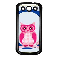 Alphabet Letter O With Owl Illustration Ideal For Teaching Kids Samsung Galaxy S3 Back Case (black)