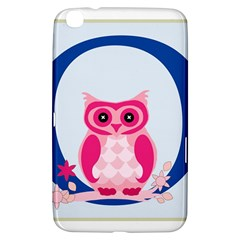 Alphabet Letter O With Owl Illustration Ideal For Teaching Kids Samsung Galaxy Tab 3 (8 ) T3100 Hardshell Case