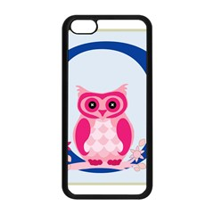 Alphabet Letter O With Owl Illustration Ideal For Teaching Kids Apple Iphone 5c Seamless Case (black)