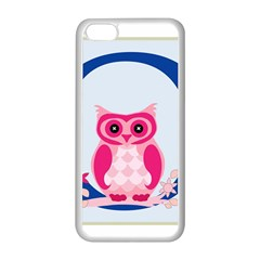 Alphabet Letter O With Owl Illustration Ideal For Teaching Kids Apple iPhone 5C Seamless Case (White)