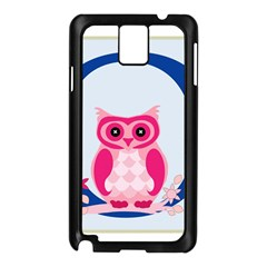 Alphabet Letter O With Owl Illustration Ideal For Teaching Kids Samsung Galaxy Note 3 N9005 Case (Black)