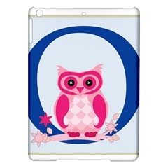 Alphabet Letter O With Owl Illustration Ideal For Teaching Kids iPad Air Hardshell Cases