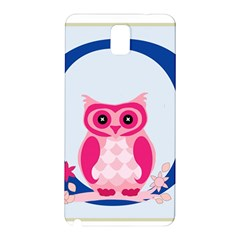 Alphabet Letter O With Owl Illustration Ideal For Teaching Kids Samsung Galaxy Note 3 N9005 Hardshell Back Case