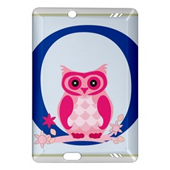 Alphabet Letter O With Owl Illustration Ideal For Teaching Kids Amazon Kindle Fire HD (2013) Hardshell Case