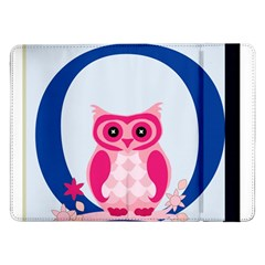 Alphabet Letter O With Owl Illustration Ideal For Teaching Kids Samsung Galaxy Tab Pro 12.2  Flip Case