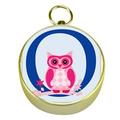 Alphabet Letter O With Owl Illustration Ideal For Teaching Kids Gold Compasses