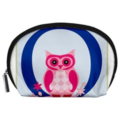 Alphabet Letter O With Owl Illustration Ideal For Teaching Kids Accessory Pouches (large)