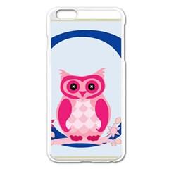 Alphabet Letter O With Owl Illustration Ideal For Teaching Kids Apple iPhone 6 Plus/6S Plus Enamel White Case