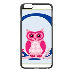 Alphabet Letter O With Owl Illustration Ideal For Teaching Kids Apple iPhone 6 Plus/6S Plus Black Enamel Case
